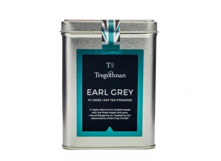 Tregothnan earl grey loose leaf pyramid caddy
