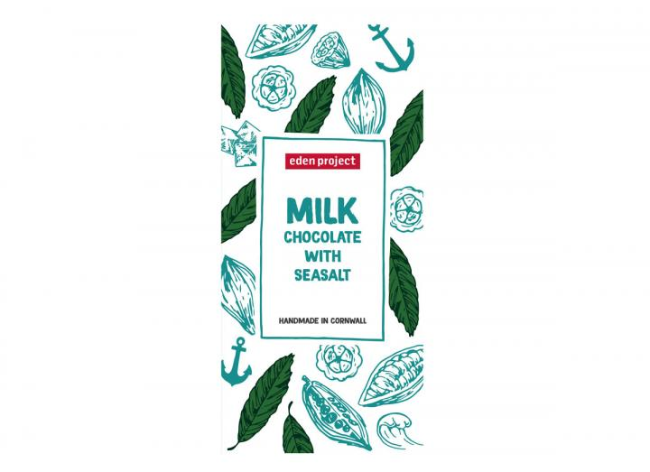 Eden Project milk chocolate with sea salt chocolate bar 100g