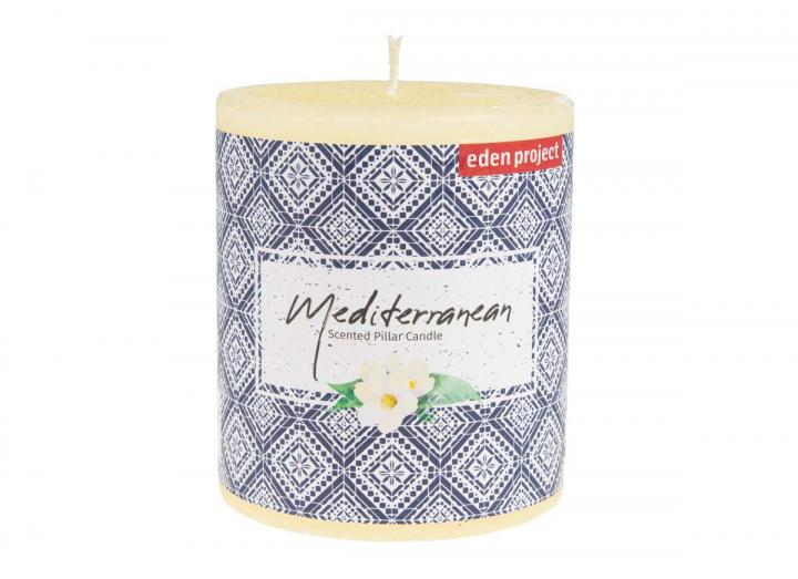 Eden Project Mediterranean scented pillar candle