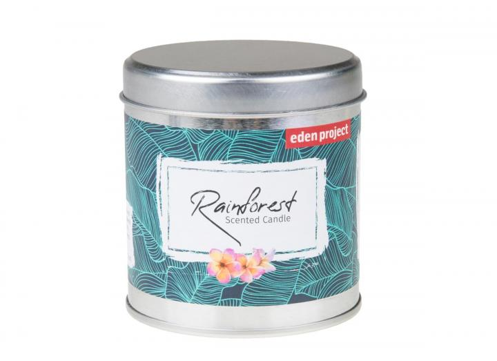 Rainforest scented tin candle, an Eden Project exclusive product