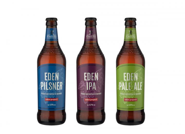 Trio of beers brewed exclusively for Eden by St Austell Brewery
