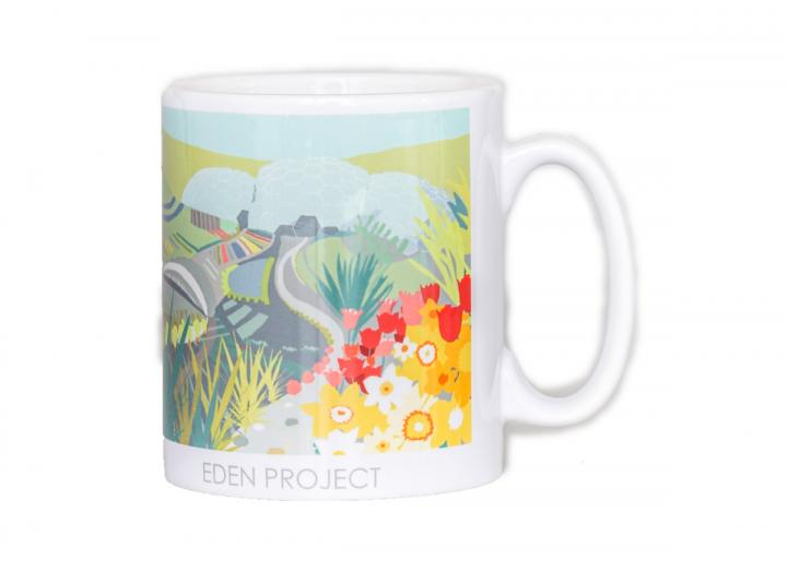 Spring themed Eden Project mug