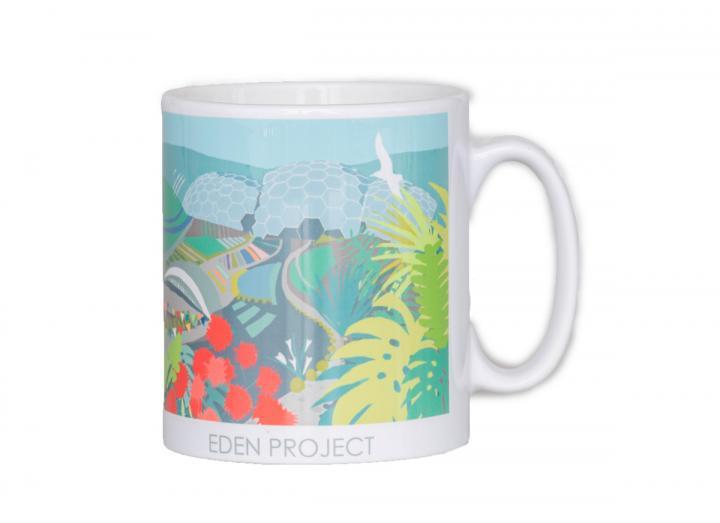 Summer themed Eden Project mug