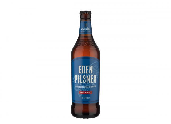Eden pilsner from St Austell Brewery