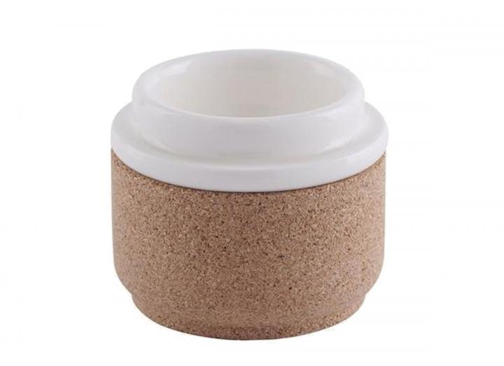 Ceramic & cork egg cup