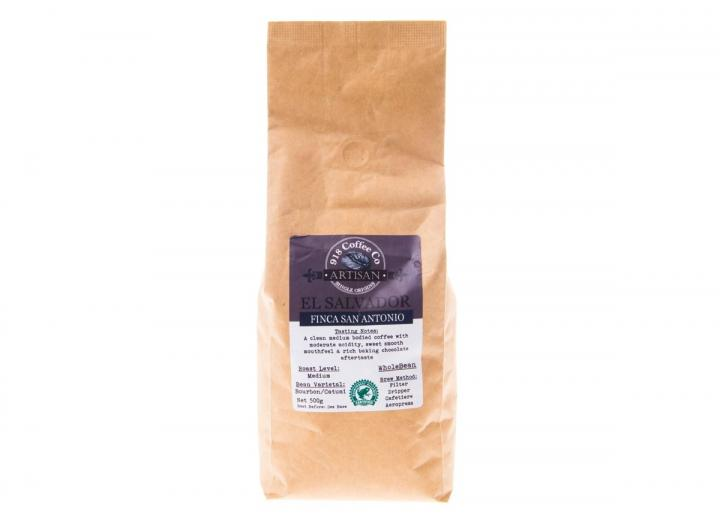 500g bag of El Salvador single origin whole bean coffee