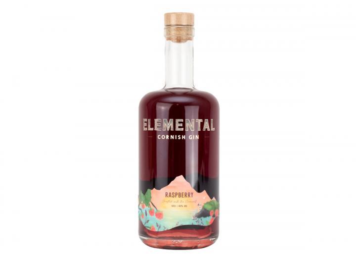 Elemental Cornish raspberry gin 50cl