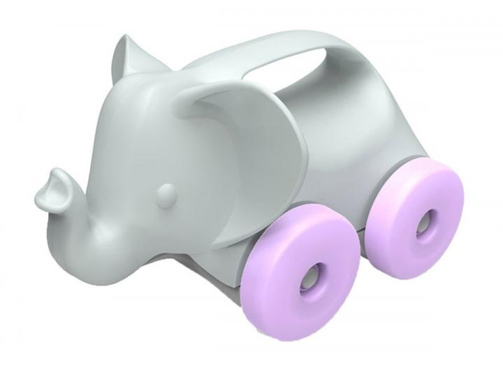 Elephant on wheels recycled plastic