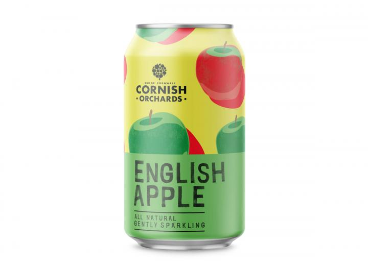Cornish Orchards English apple sparkling juice drink 330ml can