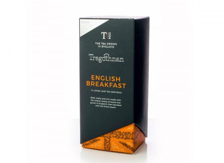 Tregothnan English Breakfast loose leaf tea caddy
