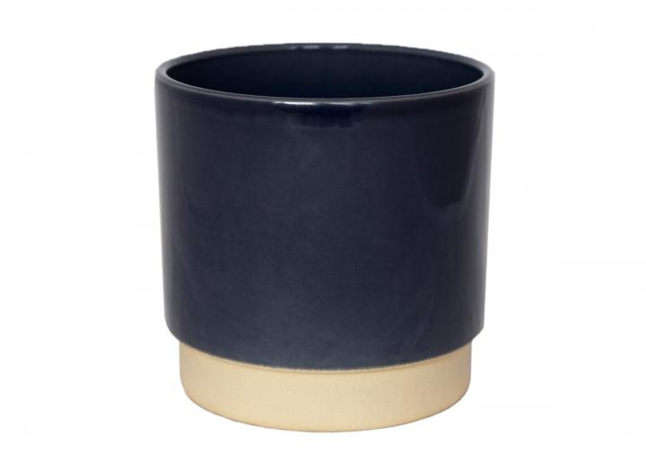 Eno tribal planter in blue from Ivyline, available in 10cm & 13cm