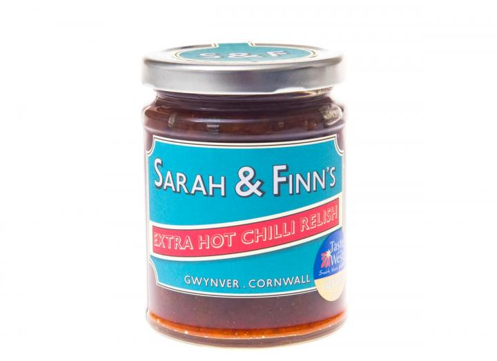 Extra hot chilli relish from Sarah & Finn's