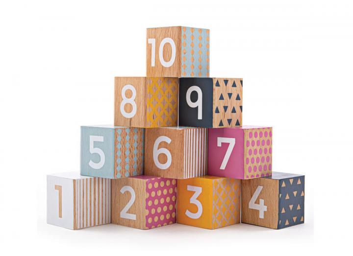 Bigjigs 100% FSC® certified wooden number blocks