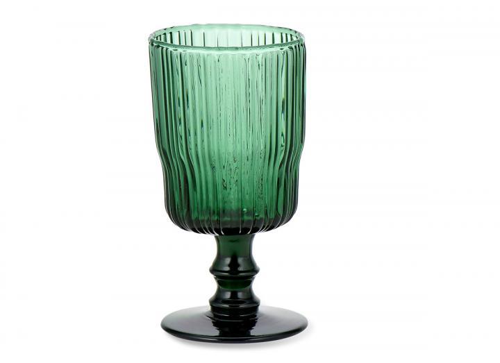 Fali wine glass teal from Nkuku