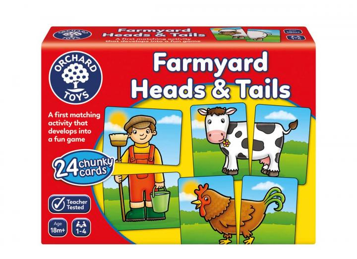Farmyard heads & tails game from Orchard Toys