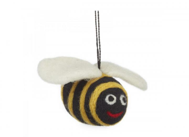 Hanging felt bumblebee decoration from Felt So Good