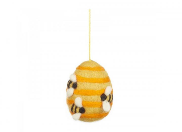 Felt busy beehive hanging decoration from Felt So Good
