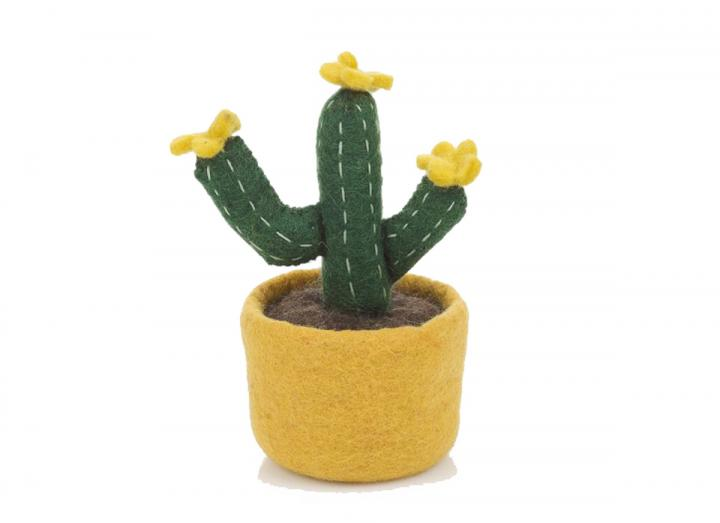 Felt Yellow Bloom Cactus from Felt So Good
