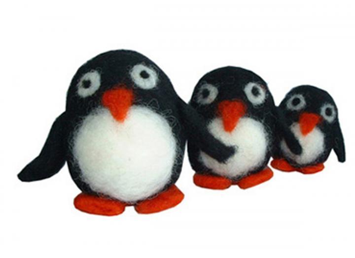 Felting kit - penguins