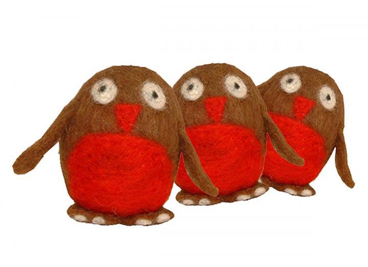 Felting kit - robins
