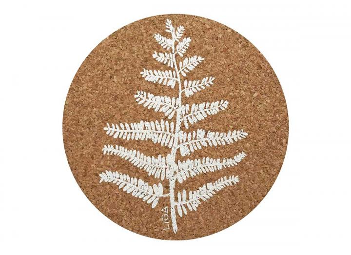 Cork fern placemats & coasters