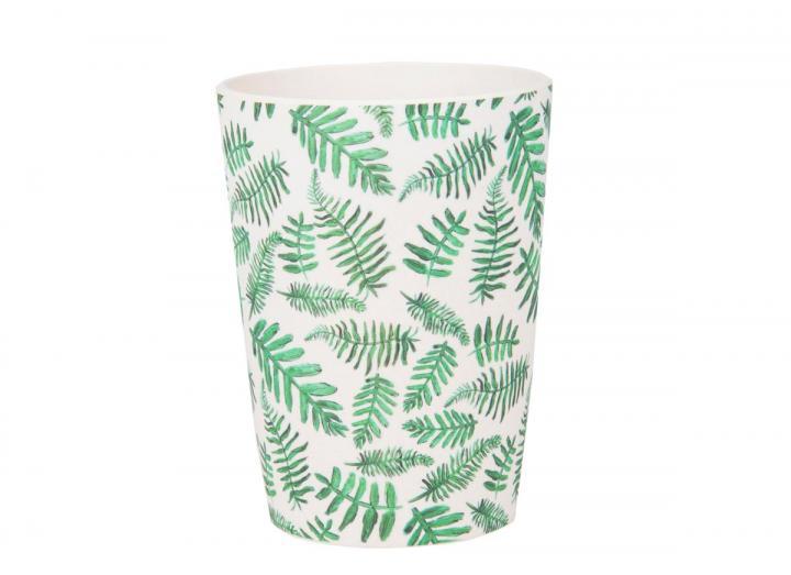 Fern print bamboo beaker, exclusive Eden Project design