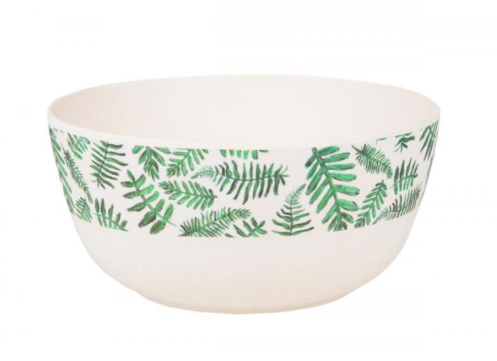 Fern print bamboo cereal bowl, exclusive Eden Project design
