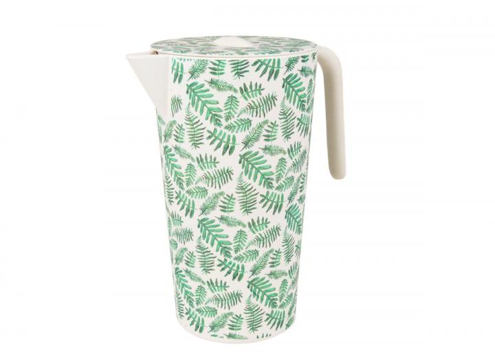 Fern print bamboo lidded jug, an Eden Project exclusive