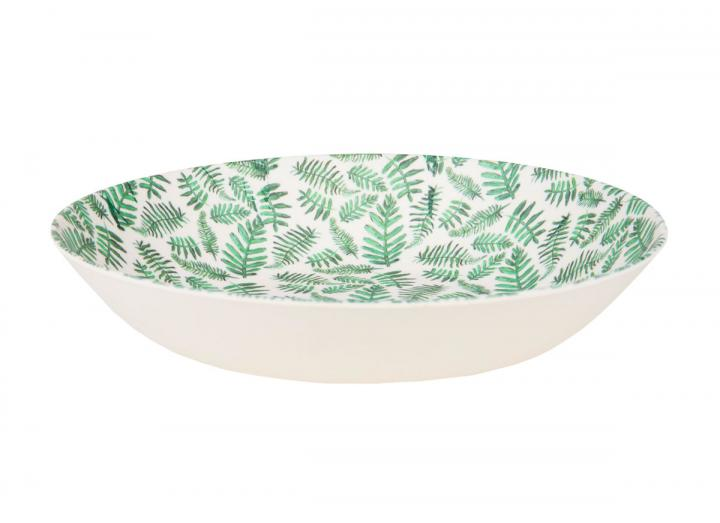 Fern print bamboo pasta bowl, exclusive Eden Project design