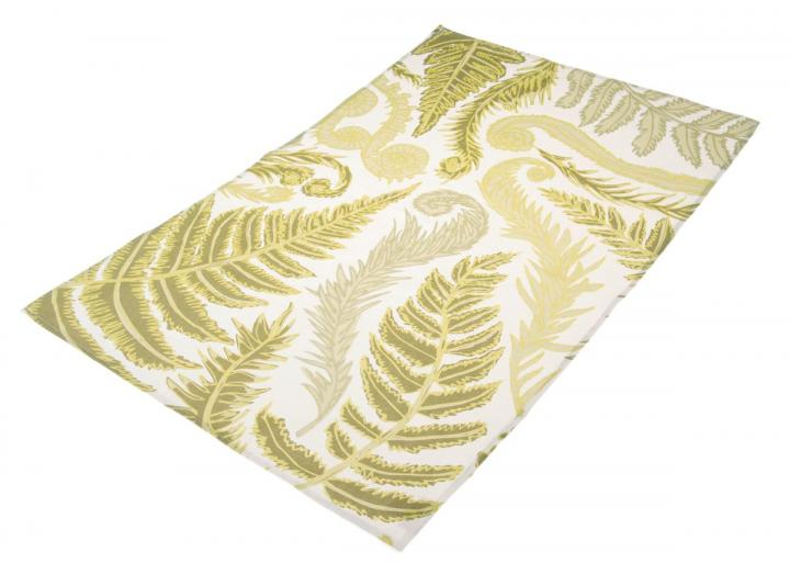 Organic cotton tea towel with fern design