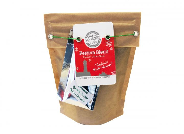 Festive blend coffee from Mevagissey Coffee