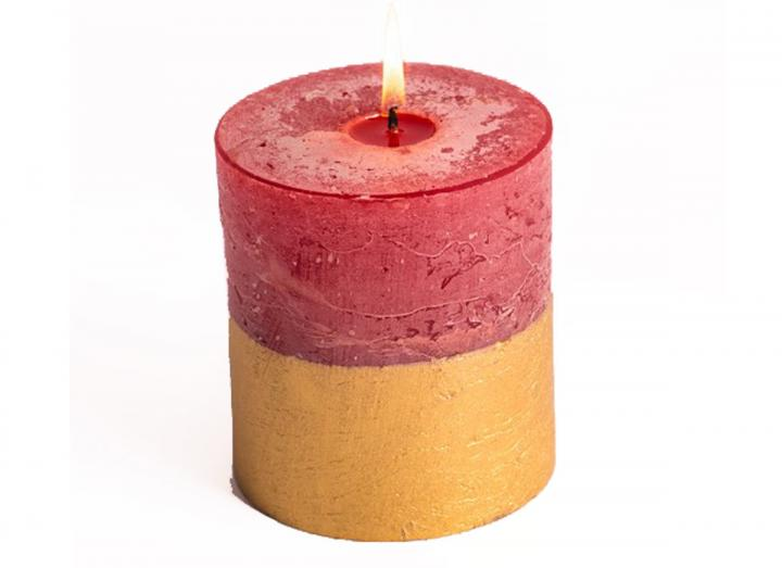 Figgy Pudding Half Dipped Pillar Candle from St Eval Candle Co.