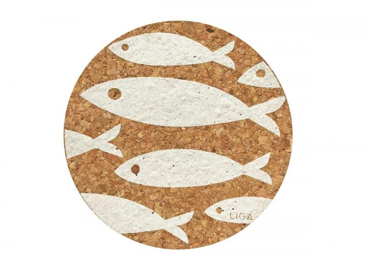 Cork fish placemats & coasters