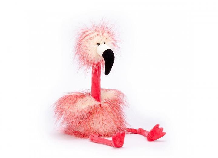 Flora flamingo soft toy
