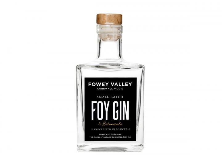 Fowey Valley Foy gin 500ml bottle