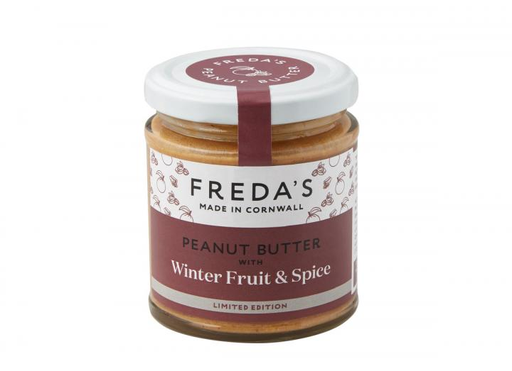 Freda's peanut butter with winter fruit & spice