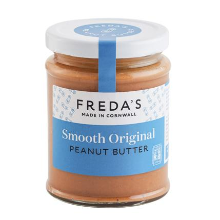 Freda's smooth original peanut butter handmade in Cornwall