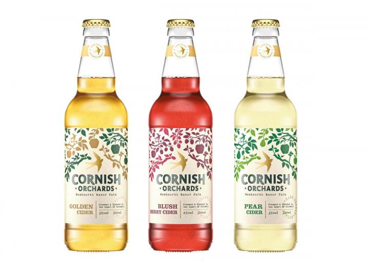 Fruity cider gift set from Cornish Orchards