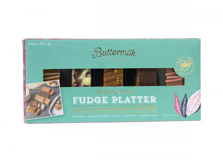 Buttermilk fudge platter, handmade in Cornwall