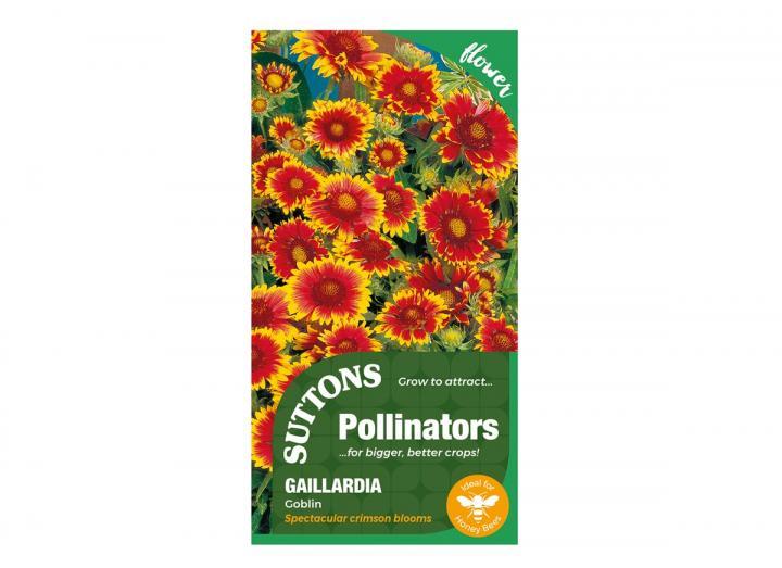 Gaillardia 'Goblin' seeds, part of the pollinators range from Suttons