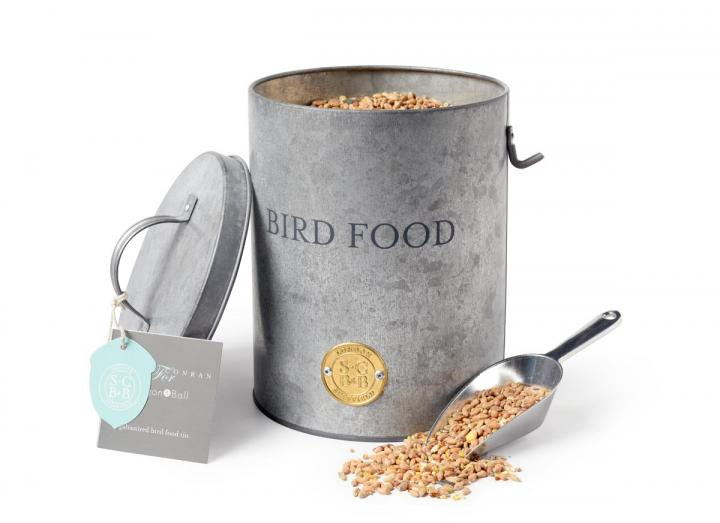 Galvanised bird food tin by Sophie Conran for Burgon & Ball