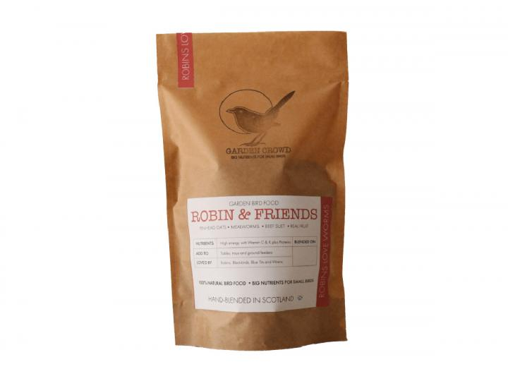 Garden Crowd robin & friends bird food 1kg plastic-free bag
