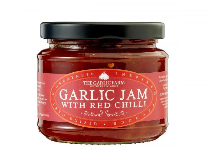 Garlic jam with red chilli from The Garlic Farm