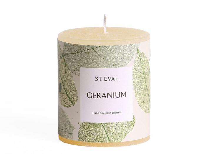 Geranium, Garden of Eden Scented Pillar Candle