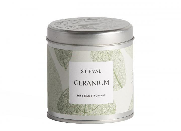 Geranium, Garden of Eden Scented Tin Candle