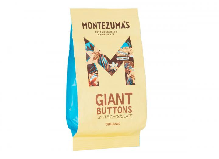 Montezuma's giant organic white chocolate buttons 180g