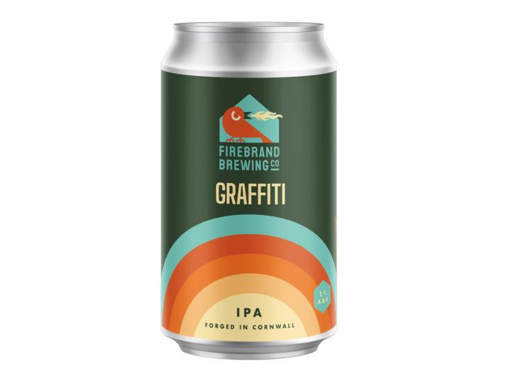 Graffiti IPA from the Firebrand Brewing Co. in Cornwall