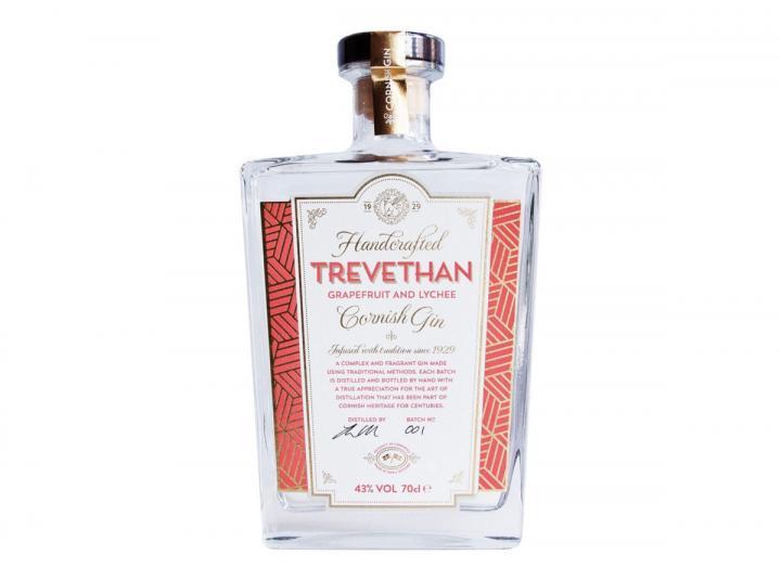 Trevethan Distillery's grapefruit & lychee gin