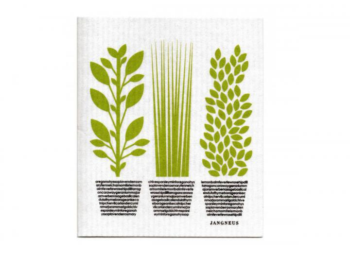 Green herbs design, Jangneus biodegradable dishcloth