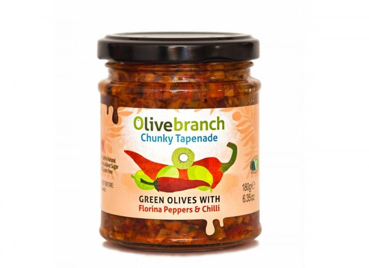 Green olives with florina peppers & chilli from Olive Branch